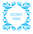 Abstract Frame - Composition of Drops in Blue Colo vector image vector image