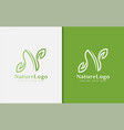 abstract initial letter n logo design letter n is vector image vector image