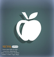 Apple icon symbol on the blue-green abstract vector image vector image