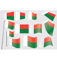 badges with flag of Madagascar vector image vector image