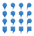 Blue map pin sign flat location icon web button vector image vector image
