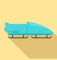 bobsleigh icon flat style vector image