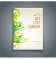 Bright summer template vector image vector image
