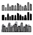 Building black and white icon set vector image vector image