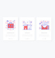 business and finance - set line design style vector image vector image