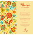 card for congratulations floral background vector image vector image