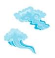 Cartoon Clouds Set in east style of vector image