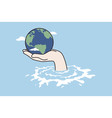 climate change disaster saving concept vector image