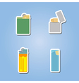 color icon set with lighter vector image vector image