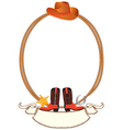 cowboy rope frame vector image vector image