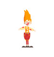 cute funny clown cartoon character carnival party vector image vector image