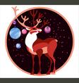 deer chircle vector image vector image