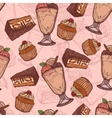 Dessert sketch seamless pattern vector image vector image