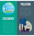 Eco energy and air pollution banners vector image vector image