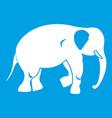 elephant icon white vector image