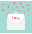Envelope with hearts Love card vector image vector image