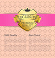 exclusive premium quality best choice brand label vector image vector image