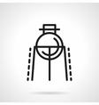 Flask on rack simple line icon vector image vector image