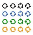 Four arrow rotation set vector image