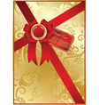 gold ornate background vector image vector image