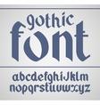 gothic handwritten font vector image vector image
