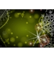 Green Background With Snowflakes vector image vector image
