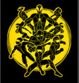 group of super heroes action vector image vector image