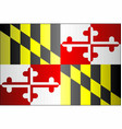 grunge flag of maryland vector image vector image