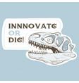 head skull dinosaur with deep look vector image