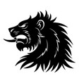 heraldic lion head simple vector image vector image