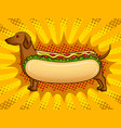 hot dog funny metaphor pop art vector image