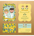 lemon 0rchard theme wedding couple bride amp vector image vector image