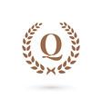 Letter Q laurel wreath logo icon design template vector image vector image