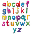 Letters of the alphabet artwork vector image