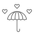 love rain thin line icon romantic and valentine vector image