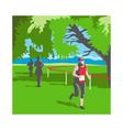 Marathon Runner Running WPA vector image vector image