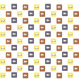 megaphones icons pattern background vector image vector image