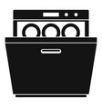 modern dishwasher icon simple style vector image vector image