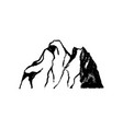 mountain icon vintage vector image vector image