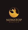 nonstop dancing logo dancing in a clock vector image