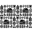 nordic scandinavian folk seamless pattern vector image