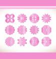 pink round mandala vector image