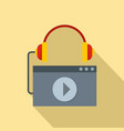 play audio file icon flat style vector image vector image
