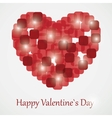 Red valentine heart vector image vector image