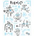 robotics for kids set of design elements robots vector image