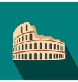 Roman Colosseum icon flat style vector image vector image