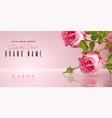 rose flower banner vector image vector image