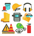 safety items protective equipment building vector image vector image