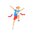 senior man running elderly man taking part in vector image vector image