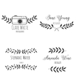 Set logo hand drawn nature brunch vector image
